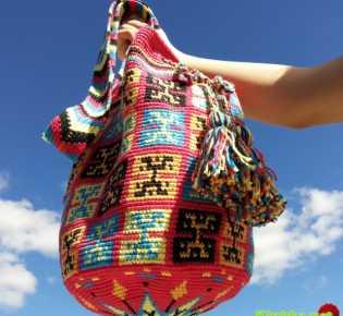 Сумки Вайуу — колумбийские mochilla. Фото, схемы, видео