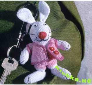 Зайчик — брелок для ключей.